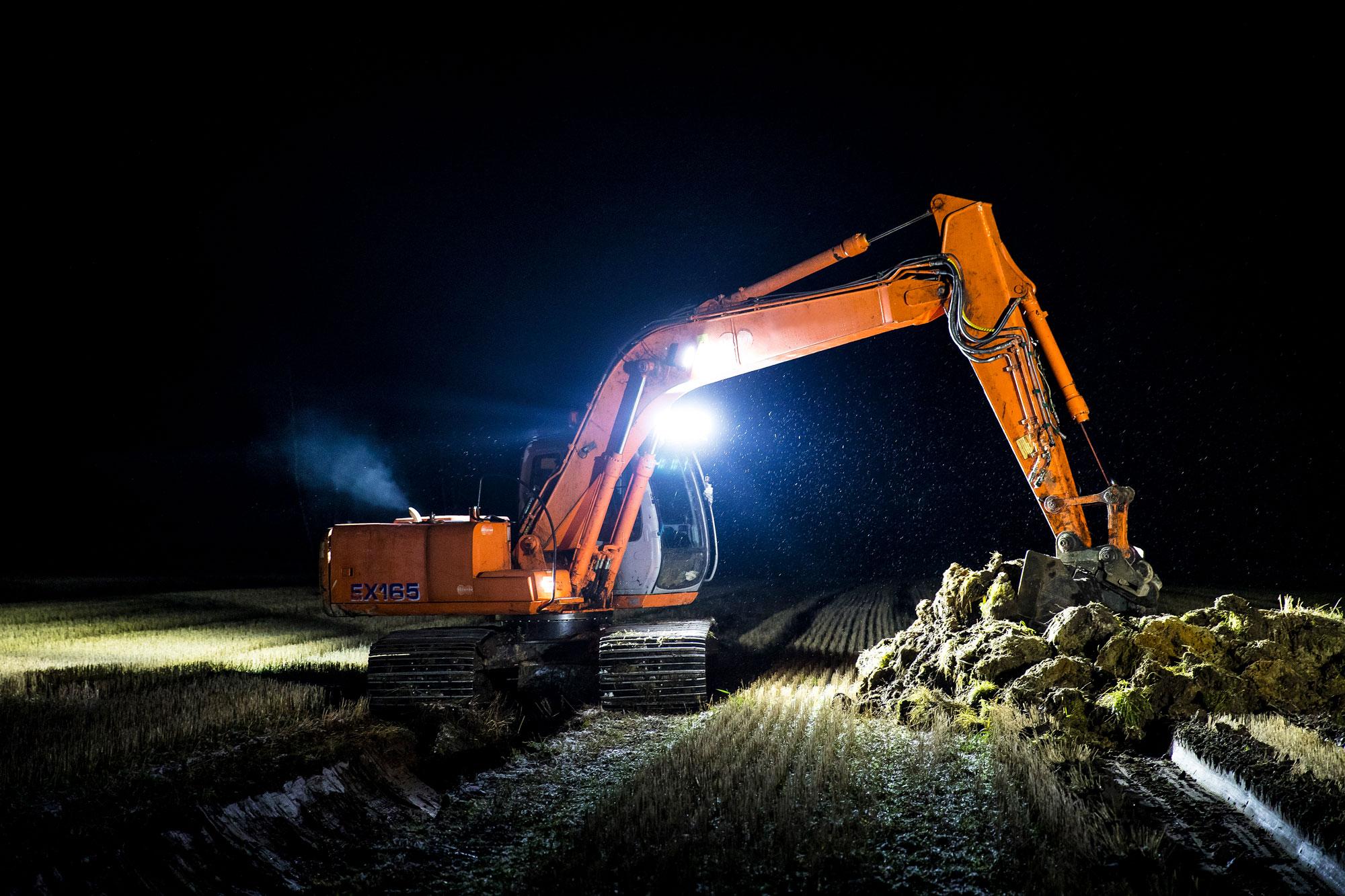 Excavator Lights: All about LED Excavator work lights - NORDIC LIGHTS®